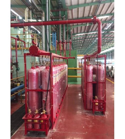 Bình chữa cháy CO2 45kg (68L) van tự động